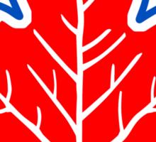 Vintage Retro Canadian Style Maple Leaf Symbol Sticker
