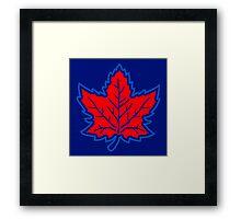 Vintage Retro Canadian Style Maple Leaf Symbol Framed Print