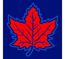 Vintage Retro Canadian Style Maple Leaf Symbol Photographic Print