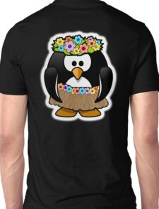 Hula Penguin, Hawaiian, Hawaii, Cartoon,  Unisex T-Shirt