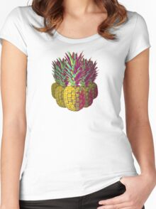 Multiple Pineapples Women's Fitted Scoop T-Shirt