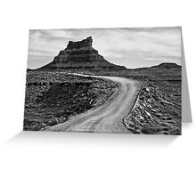 Valley of the Gods III BW Greeting Card