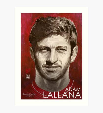 Adam Lallana - Liverpool FC Art Print