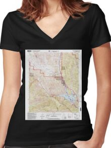USGS TOPO Map California CA Black Mountain 299931 1995 24000 geo Women's Fitted V-Neck T-Shirt
