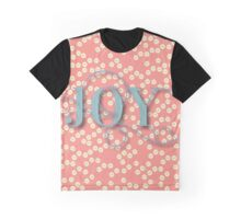 Joy.modern,trendy,rustic,typography,cool text, coral,yellow cream, teal,dots,pattern,cute,decorative Graphic T-Shirt