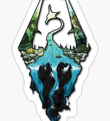 Fan-made Skyrim Logo (Landscape design) Sticker
