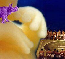 rhino, foetus, sumo wrestlers by harryleviathan