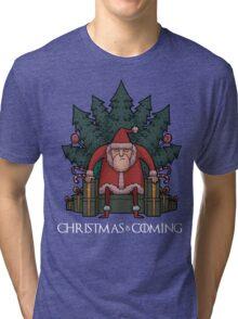 Santa Of Thrones - Christmas Is Coming Tri-blend T-Shirt