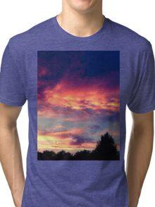 Suburban evening  Tri-blend T-Shirt