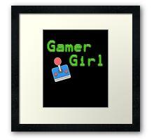Gamer Girl - Vintage Gaming Framed Print