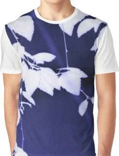 Leaves on dark blue Graphic T-Shirt