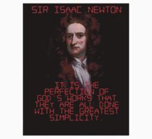 It Is The Perfection Of God's Works - Isaac Newton One Piece - Short Sleeve