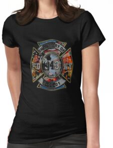 FDNY September 11th - NEVER FORGET 343 shirt Womens Fitted T-Shirt