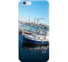 Fishing boats reflections La Ciotat harbour iPhone Case/Skin