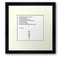 Energy- Rupi Kaur Framed Print