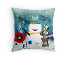 Aurora Australis Christmas Whimsical Stars Throw Pillow