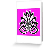 LOTUS, Flower, Line Art, Buddha, Buddhism, Buddhist, rebirth Greeting Card