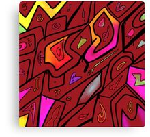 Crazed Red Canvas Print