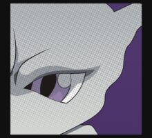Mewtwo Halftone Kids Clothes