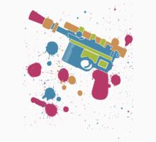 Han Solo Blaster Paint Splatter (Full Color) One Piece - Long Sleeve