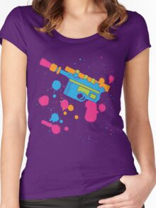 Han Solo Blaster Paint Splatter (Full Color) Women's Fitted Scoop T-Shirt