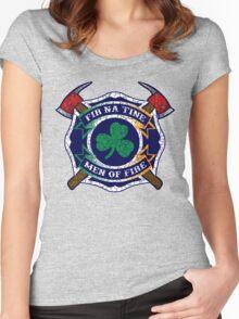 Fir na Tine - Men of Fire Women's Fitted Scoop T-Shirt