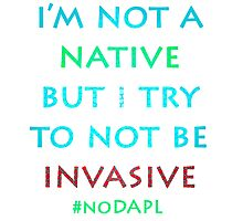 I'm not a native Photographic Print