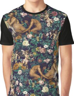 Young Greeks and Floral Pattern Graphic T-Shirt