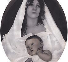 Mother Mary with Baby by brittnideweese