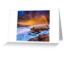 Awesome rainbow sunset Greeting Card