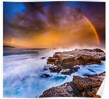 Awesome rainbow sunset Poster