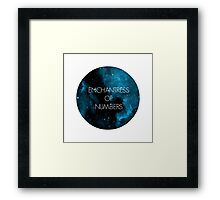 The Enchantress of Numbers Framed Print