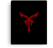 Los Illuminatos Cult Symbol (Red) Canvas Print