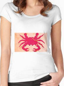 Sea crab Women's Fitted Scoop T-Shirt