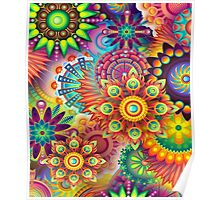 Flowers in abstract Poster