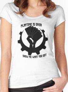 Playtime is over Women's Fitted Scoop T-Shirt
