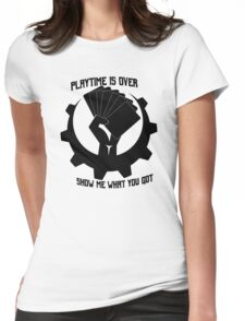 Playtime is over Womens Fitted T-Shirt