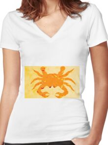Sea crab Women's Fitted V-Neck T-Shirt