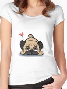 Cute Pug-scroll down to view more of my work Women's Fitted Scoop T-Shirt