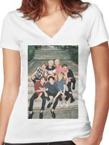Cute BTS poster Women's Fitted V-Neck T-Shirt