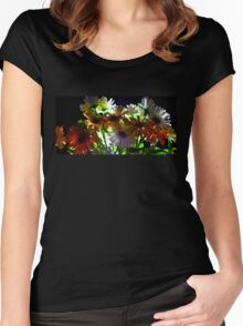 Backlit Flower Bouquet  Women's Fitted Scoop T-Shirt