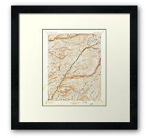 USGS TOPO Map California CA Big Trees 299222 1901 125000 geo Framed Print