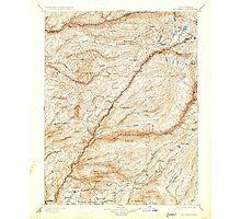 USGS TOPO Map California CA Big Trees 299222 1901 125000 geo Photographic Print
