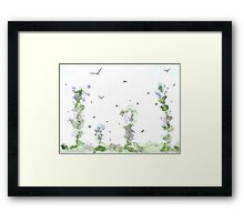 Birds and Bees, Summer Breeze Framed Print
