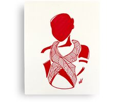 Breast Cancer Awareness in Red Canvas Print