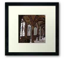 Chester Cathedral Cloisters Wall Picture Framed Print