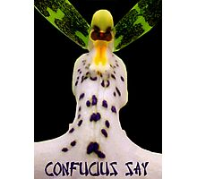 Confucius Say Photographic Print