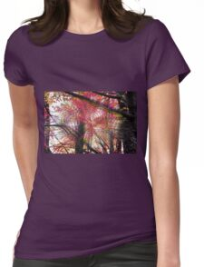 Psychedelic Forest II Womens Fitted T-Shirt