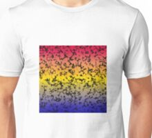 Color Gradient Black Marbleized - Blue | Yellow | Red Unisex T-Shirt
