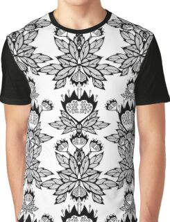 Abstract flowers. Black and white bouquet. Graphic T-Shirt